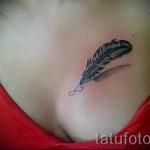 3д тату перо - пример фотографии готовой татуировки от 02032016 1
