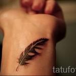 3д тату перо - пример фотографии готовой татуировки от 02032016 2