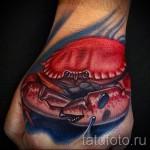 3д тату рак - пример фотографии готовой татуировки от 02032016 2