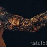 3д тату рукава - пример фотографии готовой татуировки от 02032016 2