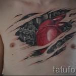 3д тату сердце - пример фотографии готовой татуировки от 02032016 1