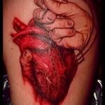 3д тату сердце - пример фотографии готовой татуировки от 02032016 4