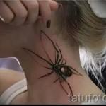 3д тату с пауком - пример фотографии готовой татуировки от 02032016 10