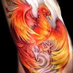 3д тату феникс - пример фотографии готовой татуировки от 02032016 3