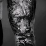 3д тату фото волк 2
