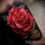 3д тату цветы - пример фотографии готовой татуировки от 02032016 2