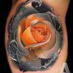 3д тату цветы - пример фотографии готовой татуировки от 02032016 3