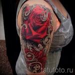 3д тату цветы - пример фотографии готовой татуировки от 02032016 6