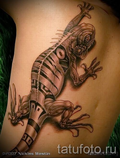 3д тату ящерица - пример фотографии готовой татуировки от 02032016 2