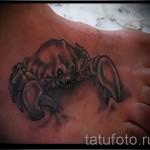 3D-Tätowierung Krebs - ein Beispiel für die fertige Tattoo Fotos von 02032016 1