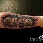 3D-Tätowierung auf seinem Unterarm - Beispielfoto des fertigen Tätowierung auf 02032016 3