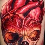 3D-Tattoo Herz - ein Beispiel für die fertige Tattoo Fotos von 02032016 1