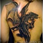 3D-Tattoo auf dem Rücken - ein Beispiel für die fertige Tattoo Fotos von 02032016 1