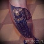 3D-Tattoo auf seinem Bein - ein Beispiel für die fertige Tattoo Fotos von 02032016 2