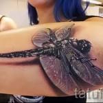 3D-Tattoos für Mädchen - Beispiel Foto des fertigen Tätowierung auf 02032016 1