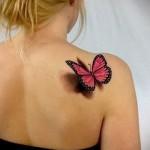 3D-Tattoos für Mädchen - Beispiel Foto des fertigen Tätowierung auf 02032016 4