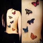 3D-Tattoos für Mädchen - Beispiel Foto des fertigen Tätowierung auf 02032016 6