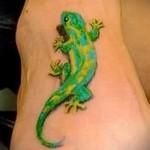 3d Eidechse Tattoo - Beispielfoto des fertigen Tätowierung auf 02032016 1