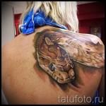 3d Schlange Tattoo auf dem Arm Bilder - Beispielfoto des fertigen Tätowierung auf 02032016 1