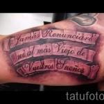 3d Schriftzug Tattoo - Beispielfoto des fertigen Tätowierung auf 02032016 1