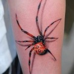 3d spider tattoo - Photo exemple du tatouage fini sur 02032016 1