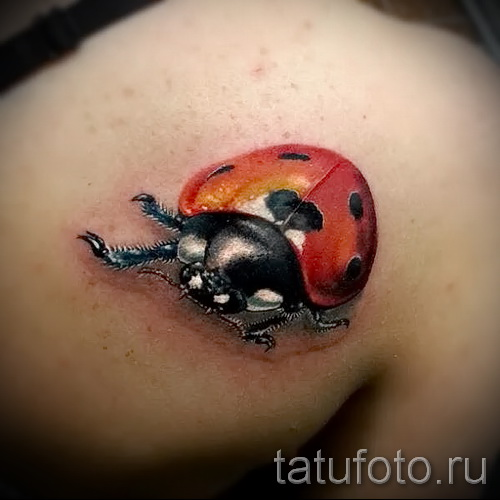 3d tatouage coccinelle - Exemple photo du tatouage fini sur 02032016 1