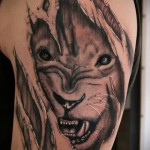 3d tatouage lion - un exemple des photos de tatouage finis par 02.032.016 1