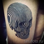 3d tatouage sur sa jambe - un exemple des photos de tatouage finis par 02.032.016 2