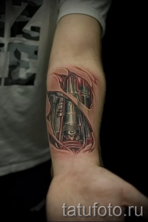 3d tatouage sur son avant-bras - Exemple photo du tatouage fini sur 02032016 1