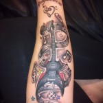 3d tattoo on his forearm - Example photo of the finished tattoo on 02032016 1