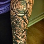 3d tattoo on his forearm - Example photo of the finished tattoo on 02032016 2