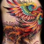 3d tattoo phoenix - Beispielfoto des fertigen Tätowierung auf 02032016 1
