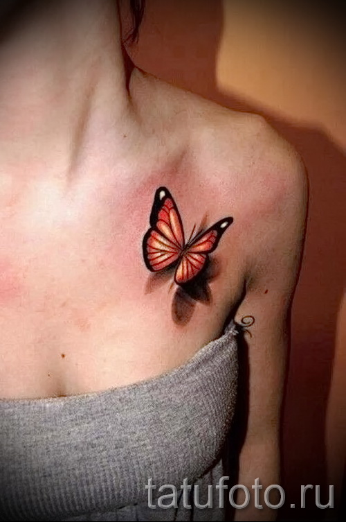 3d tattoos for girls - Example photo of the finished tattoo on 02032016 3