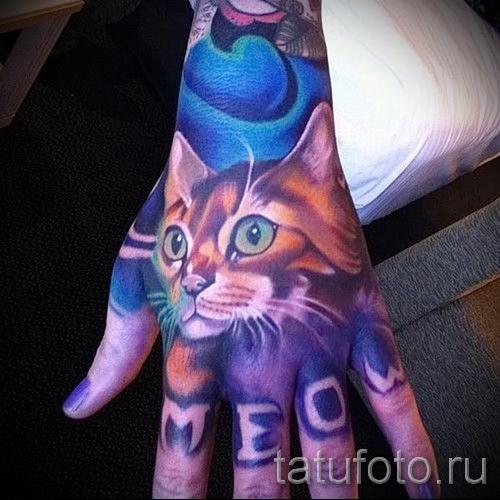 Rose tatouage sur la main - photographies et des exemples de 01032016 3