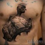 Tattoo-3D-Bilder male - Beispielfoto des fertigen Tätowierung auf 02032016 1