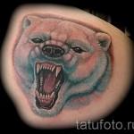 Tattoo-Eisbär - Foto mit einer Ausführungsform des fertigen Muster 29032016 1