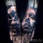 Tattoo Schädel auf der Hand - Fotos und Beispiele von 01032016 5