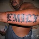 Tattoo-Typ Name - Foto Beispiel des fertigen Tätowierung auf 06032016 1