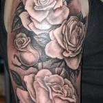 Tattoos white rose - Foto einer Ausführungsform des fertigen Muster 29032016 1