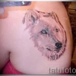 blanc loup tatouage - photo avec un mode de réalisation du motif fini de 29032016 1