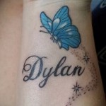 name tattoo on the wrist - Photo example of the finished tattoo on 06032016 3