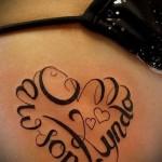 schöne Tattoo-Namen - Foto Beispiel des fertigen Tätowierung auf 06032016 1