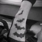 tatouage 3d chauve-souris à pied - exemples de photos de tatouage fini 02032016 3