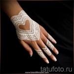 tatouage au henné blanc - photo avec un mode de réalisation du motif fini de 29032016 1