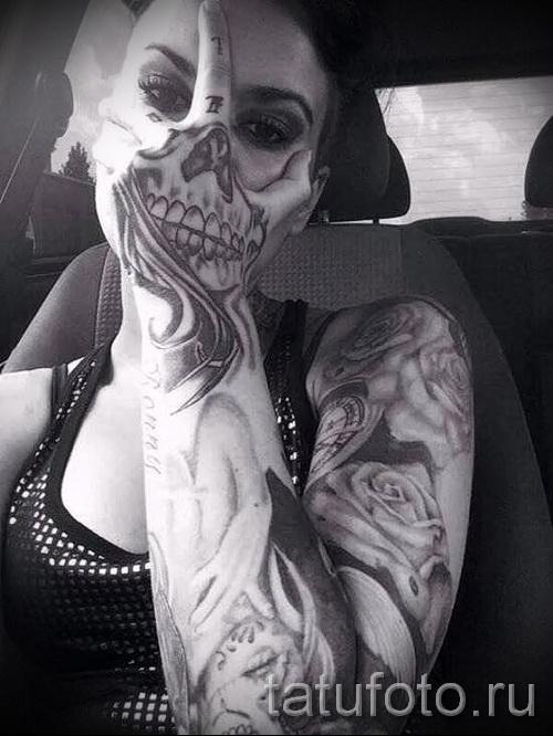 tatouage crâne sur la main - Photos et exemples de 01032016 5