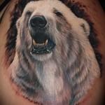 tatouage ours polaire - photo avec un mode de réalisation du motif fini de 29032016 1