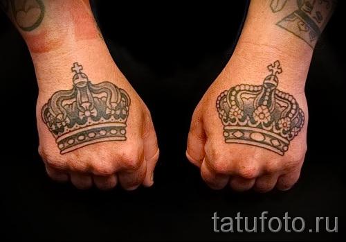 tatouage sur la couronne de la main - des photos et des exemples de 01032016 6