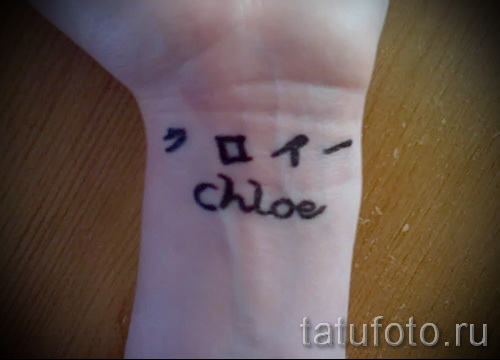 tattoo name in Japanese - Photo example of the finished tattoo on 06032016 1