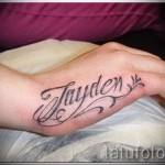 tattoo names on hand - Photo example of the finished tattoo on 06032016 1