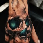 tattoo skull on hand - Photos and examples of 01032016 2